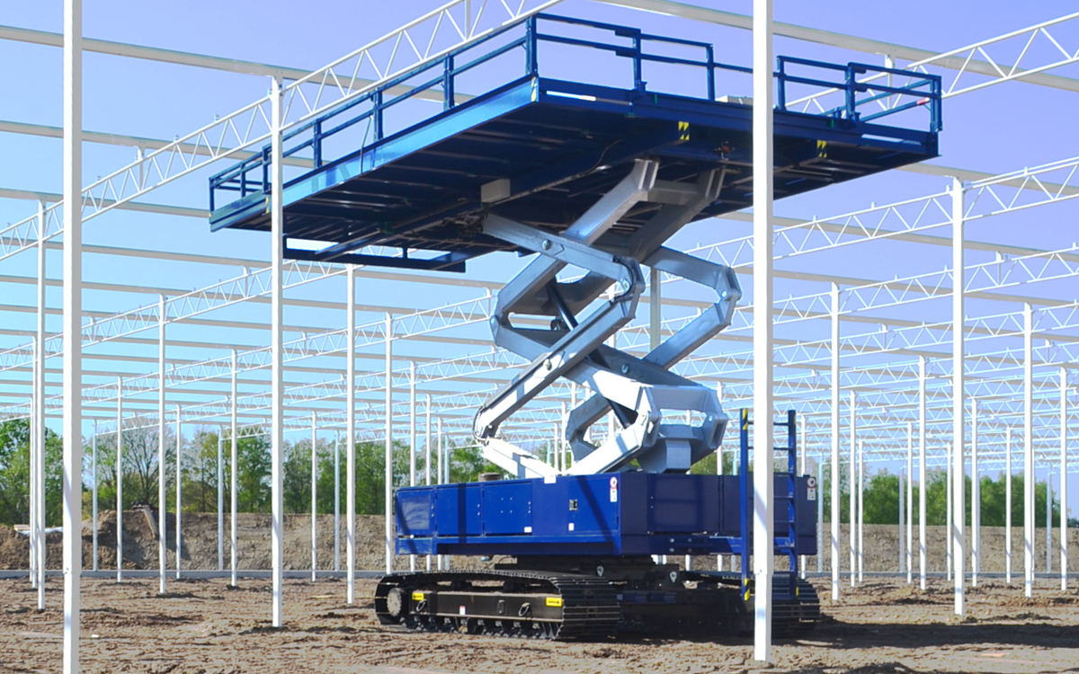 OMEGA 1200TS series - access to full section in greenhouse