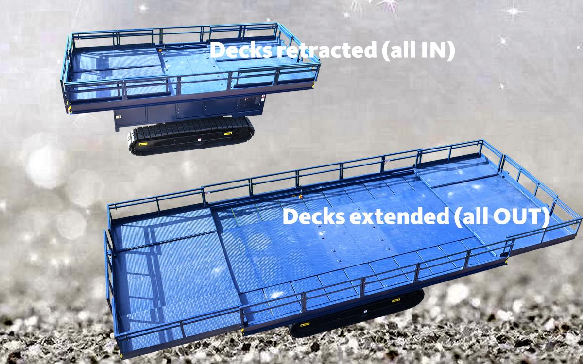 OMEGA 1200TS - spacious deck